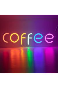 """Неоновая вывеска """"COFFEE"""" MONO (с контроллером)"""