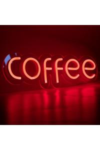 """Неоновая вывеска """"COFFEE"""" RED (с контроллером)"""