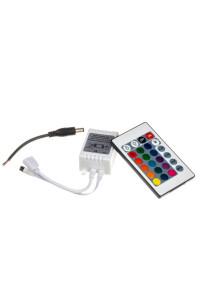 RGB контроллер 12 А 144 Вт, (IR 24 кнопки)