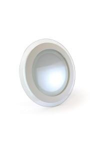 Светильник встраиваемый со стеклом 12Вт 4000К круг негерметичный
