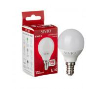 Светодиодная лампа 5вт sivio нейтральная белая E14 4100K G45