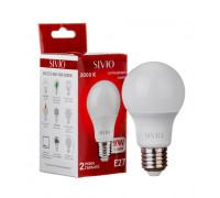 Светодиодная лампа 10вт sivio теплая белая E27 3000K A60
