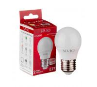 Светодиодная лампа 5вт sivio нейтральная белая E27 4100K G45