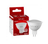 Светодиодная лампа 5вт sivio теплая белая GU5.3 3000K MR16