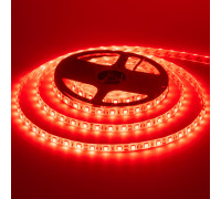 Светодиодная лента 12в красная smd5050 60led/м герметичная, 1м
