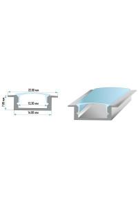 Профиль для LED лент врезной анодированный ПФ-19 2м