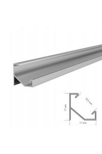 Комплект алюминиевого профиля ПФ-20 угловой накладной 2 м