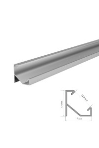 Комплект алюминиевого профиля ПФ-20 без покрытия накладной 1 м