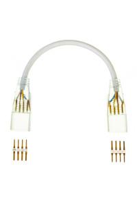 Коннектор-соединитель к светодиодной ленте 220в smd5050 (2 разъема+2 шт. 4pin)