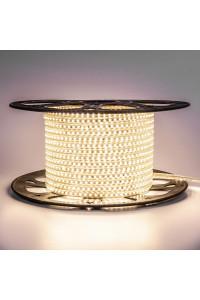 Светодиодная лента 220в белая теплая AVT smd2835 120led/m 4W/m герметичная, 1м