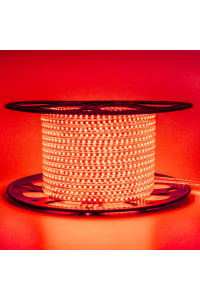 Светодиодная лента 220в красная AVT smd2835 120led/m 4W/m герметичная, 1м