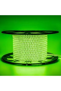 Светодиодная лента 220в зеленая AVT smd2835 120led/m 4W/m герметичная, 1м