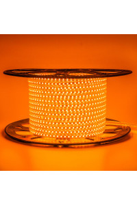 Светодиодная лента 220в оранжевая AVT smd2835 120led/m 4W/m герметичная, 1м