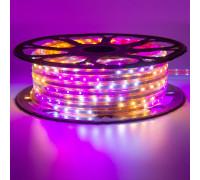 Мигающая светодиодная лента Multi-Color 220в smd2835 48led/m 6W/m герметичная, 1м