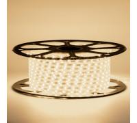 Светодиодная лента 220в белая теплая smd2835 120led/m 12W/m герметичная, 1м