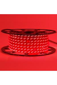 Светодиодная лента 220в красная smd2835 120led/m 12W/m герметичная, 1м