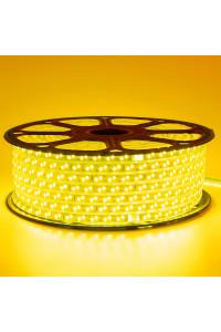 Светодиодная лента 220в желтая smd2835 120led/m 12W/m герметичная, 1м
