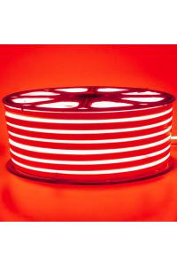Светодиодный неон 220в красный smd2835 120led/m 12W/m герметичный, 1м
