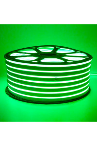 Светодиодный неон 220в зеленый smd2835 120led/m 12W/m герметичный, 1м