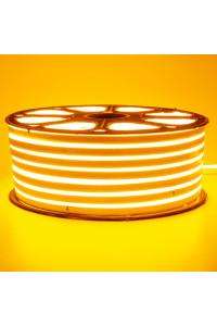 Светодиодный неон 220в желтый smd2835 120led/m 12W/m герметичный, 1м