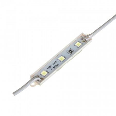 Купить Модуль светодиодный белый 12в smd5054 3LED 0.72Вт герметичный