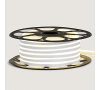 Светодиодный неон 12в холодный белый AVT smd2835 120led/m 6W/m 6*12 силиконовый, 1м