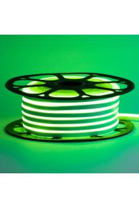 Светодиодный неон 12в зеленый AVT smd2835 120led/m 6W/m 6*12 силиконовый, 1м