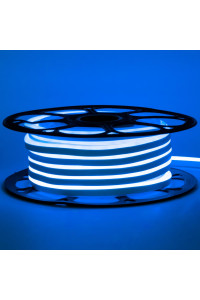 Светодиодный неон 12в синий AVT smd2835 120led/m 6W/m 6*12 силиконовый, 1м