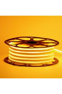 Светодиодный неон 12в желтый AVT smd2835 120led/m 6W/m 6*12 силиконовый, 1м