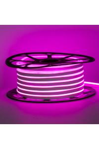 Светодиодный неон 12в розовый AVT smd2835 120led/m 6W/m 6*12 силиконовый, 1м