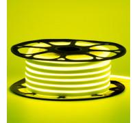 Светодиодный неон 12в лимонный желтый AVT smd2835 120led/m 6W/m 6*12 силиконовый, 1м