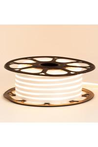 Светодиодный неон 12в белый теплый smd2835 120led/m 6W/m 8*16 PVC герметичный, 1м