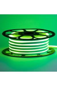 Светодиодный неон 12в зеленый smd2835 120led/m 6W/m 8*16 PVC герметичный, 1м
