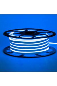 Светодиодный неон 12в синий smd2835 120led/m 6W/m 8*16 PVC герметичный, 1м