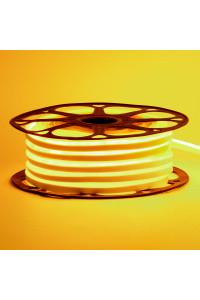 Светодиодный неон 12в желтый smd2835 120led/m 6W/m 8*16 PVC герметичный, 1м