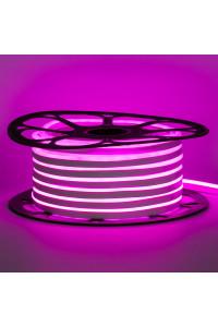 Светодиодный неон 12в розовый smd2835 120led/m 6W/m 8*16 PVC герметичный, 1м