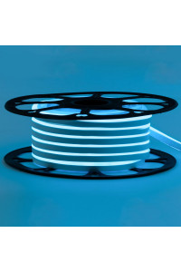 Светодиодный неон 12в голубой smd2835 120led/m 6W/m 8*16 PVC герметичный, 1м