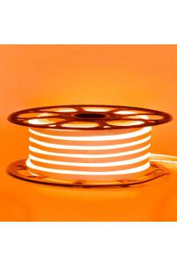 Светодиодный неон 12в оранжевый smd2835 120led/m 6W/m 8*16 PVC герметичный, 1м