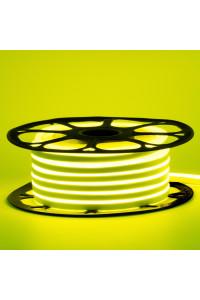 Светодиодный неон 12в лимонный smd2835 120led/m 6W/m 8*16 PVC герметичный, 1м