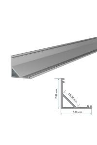 Алюминиевый профиль ПФ-9 накладной полуматовый рассеиватель (комплект) 2м