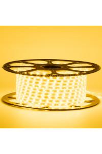 Светодиодная лента желтая 220в smd2835 48led/m 6W/m герметичная, 1м