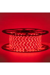 Светодиодная лента красная 220в smd2835 48led/m 6W/m герметичная, 1м