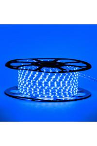 Светодиодная лента синяя 220в smd2835 48led/m 6W/m герметичная, 1м