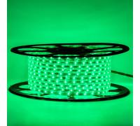 Мигающая светодиодная лента зеленая 220в smd2835 48led/m 6W/m герметичная, 1м