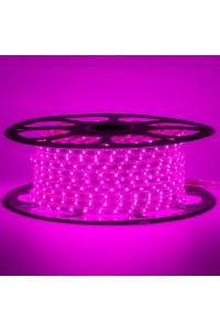 Светодиодная лента розовая 220в smd2835 48led/m 6W/m герметичная, 1м