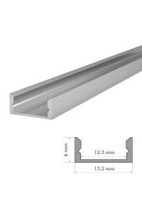 Алюминиевый профиль накладной ПФ-18 + рассеиватель (комплект) 2м