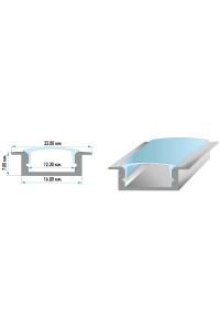 Профиль для LED лент врезной ПФ-19 рассеиватель (комплект) 2м