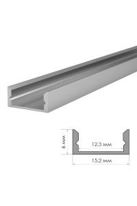 Алюминиевый профиль накладной ПФ-18 без покрытия с полумат.рассеивателем (комплект) 2м