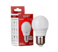 Светодиодная лампа 8вт sivio нейтральная белая E27 4100K G45