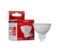 Светодиодная лампа 7вт sivio нейтральная белая GU5.3 4100K MR16